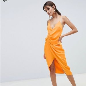 ASOS Strappy Knot Side Midi Dress